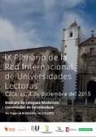 El 4 de Diciembre se celebra el IX Plenario de la Red Internacional de Universidades Lectoras en la Universidad de Extremadura