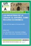 Diploma de Especialización: Las Industrias de la Lengua: El Español como Recurso Económico