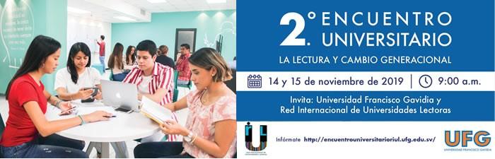 """2do Encuentro Universitario """"La lectura y cambio generacional"""""""